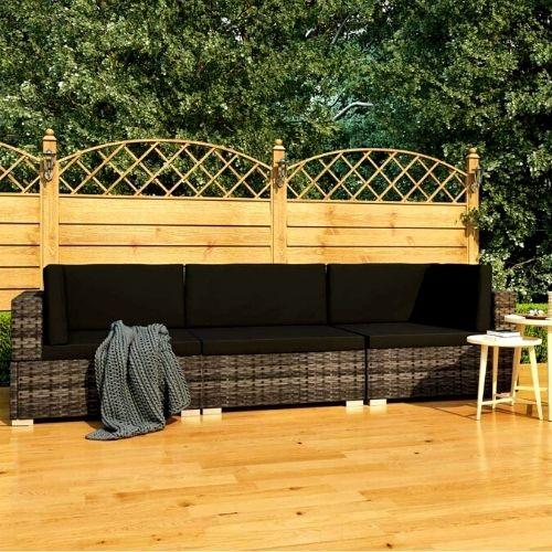 Sofás de 3 Plazas para Jardín o Terraza